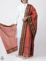 Shop Online for Orange Pure Andhra Cotton Dupatta-UDS2771