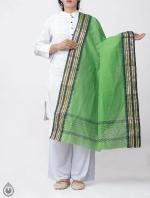 Shop Online for Green Pure Andhra Cotton Dupatta-UDS2772
