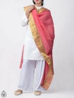 Shop Online for Pink Pure Andhra Cotton Dupatta-UDS2773