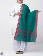 Shop Online for Green Pure Andhra Cotton Dupatta-UDS2776
