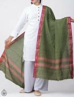 Shop Online for Green Pure Andhra Cotton Dupatta-UDS2778