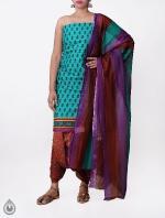 Cream Printed Rajasthani Cotton Salwar Kameez_10