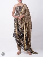 Cream Printed Rajasthani Cotton Salwar Kameez_2