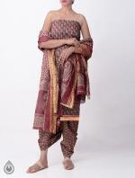 Cream Printed Rajasthani Cotton Salwar Kameez_6