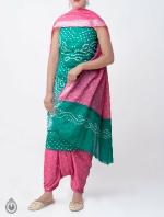 Pure Bandhani Cotton Salwar Kameez_10