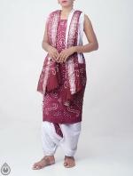 Pure Bandhani Cotton Salwar Kameez_2
