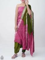 Pure Bandhani Cotton Salwar Kameez_3