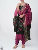 Pure Bandhani Cotton Salwar Kameez_4