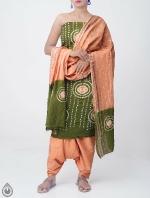 Pure Bandhani Cotton Salwar Kameez_5