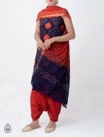 Pure Bandhani Cotton Salwar Kameez_6