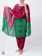 Pure Bandhani Cotton Salwar Kameez_7