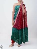 Pure Bandhani Cotton Salwar Kameez_8