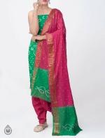 Pure Bandhani Cotton Salwar Kameez_9