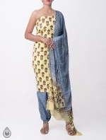 Shop Online Pure Cotton Salwar Kameez with Jaipuri Prints_2