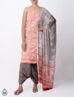 Shop Online Pure Cotton Salwar Kameez with Jaipuri Prints_3