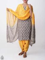 Shop Online Pure Cotton Salwar Kameez with Jaipuri Prints_4