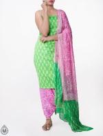 Shop Online Pure Cotton Salwar Kameez with Jaipuri Prints_5