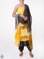 Shop Online Pure Cotton Salwar Kameez with Jaipuri Prints_9